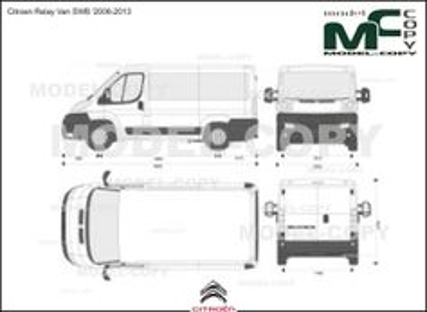 Citroen Relay Van SWB '2006-2013 - 2D-чертеж