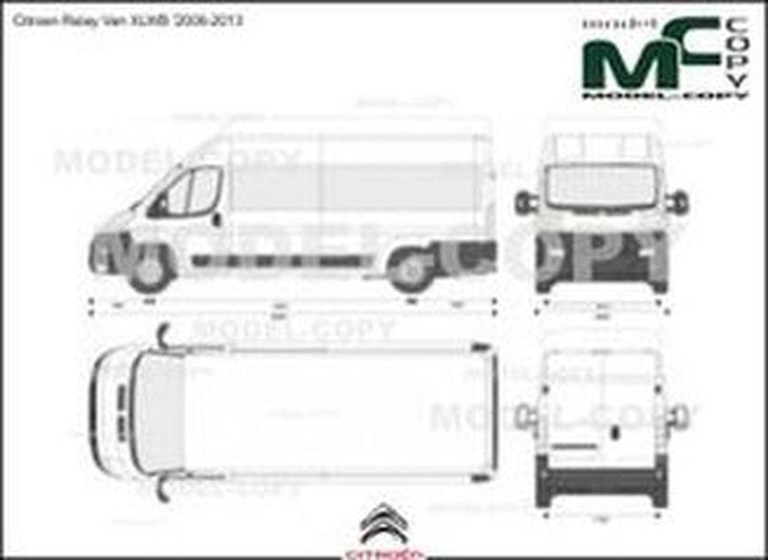 Citroen Relay Van XLWB '2006-2013 - 2D-чертеж