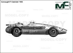 Connaught F1 Cabriolet '1955 - drawing