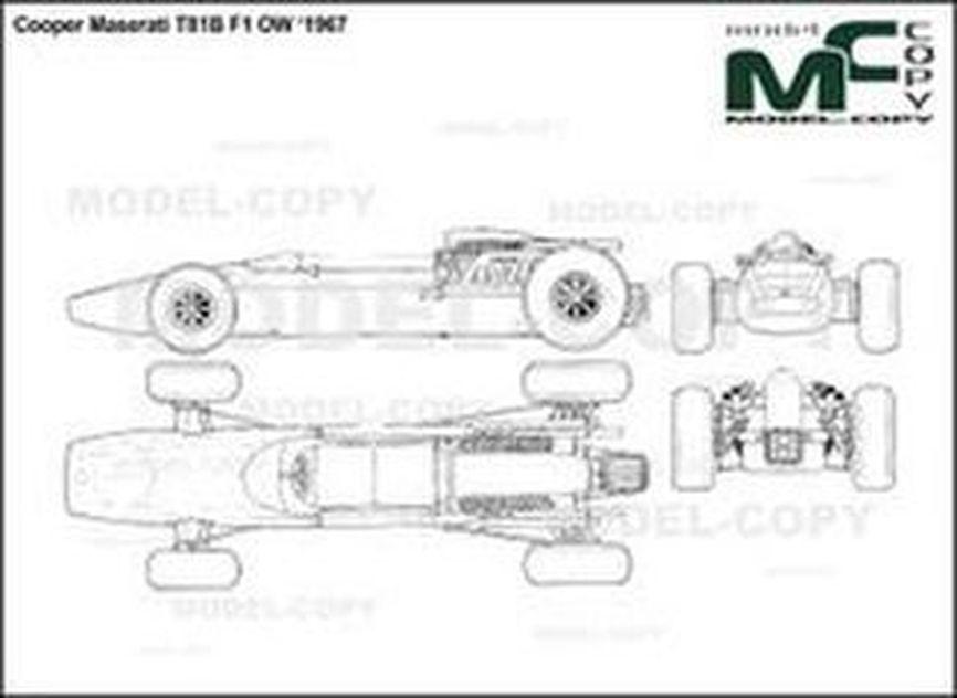 Cooper Maserati T81B F1 OW '1967 - drawing