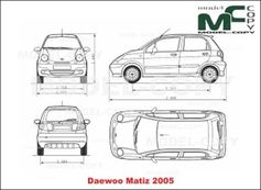 daewoo matiz 2005 drawing 22722 model copy With daewoo matiz review