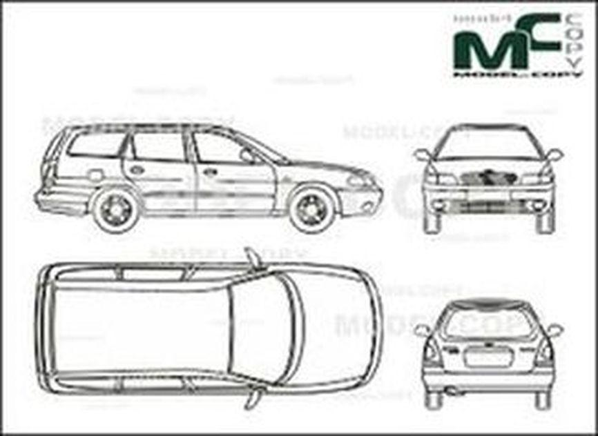 daewoo nubira wagon - drawing - 25694