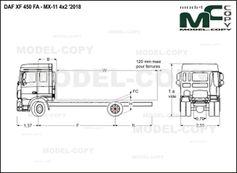 DAF XF 450 FA - MX-11 4x2 '2018 - drawing