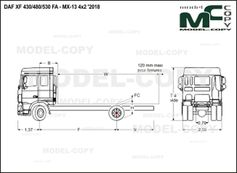 DAF XF 430/480/530 FA - MX-13 4x2 '2018 - drawing