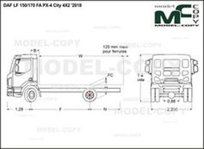 DAF LF 150/170 FA PX-4 City 4X2 '2018 - drawing