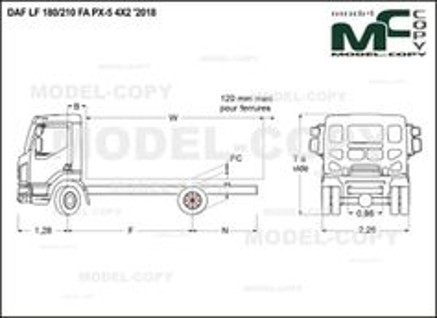 DAF LF 180/210 FA PX-5 10t 4X2 '2018 - drawing
