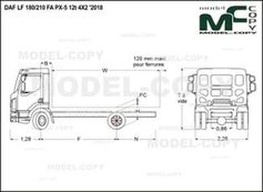DAF LF 180/210 FA PX-5 12t 4X2 '2018 - drawing
