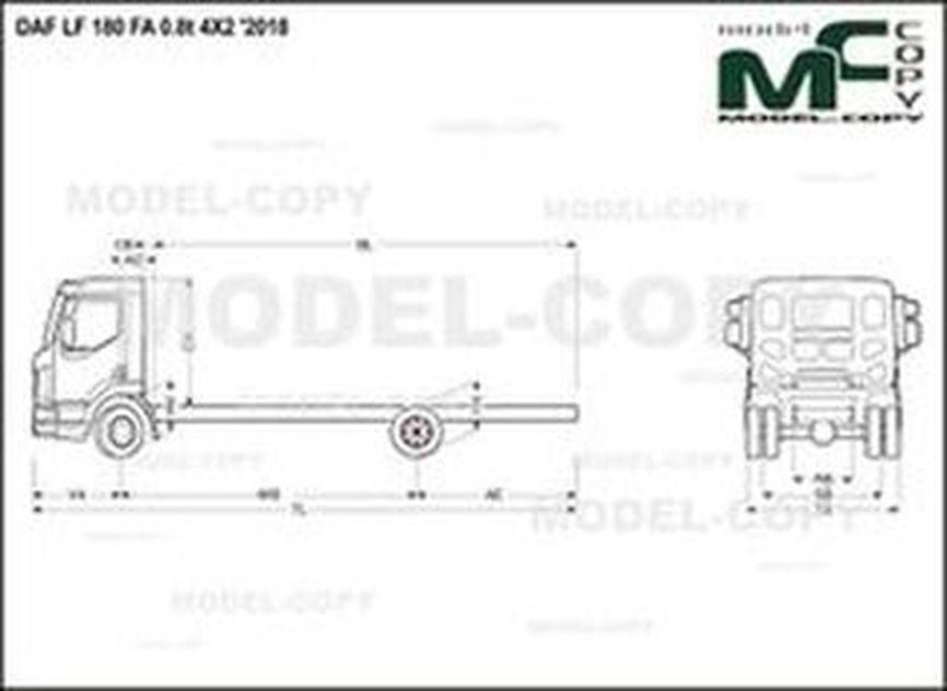 DAF LF 180 FA 0.8t 4X2 '2018 - drawing