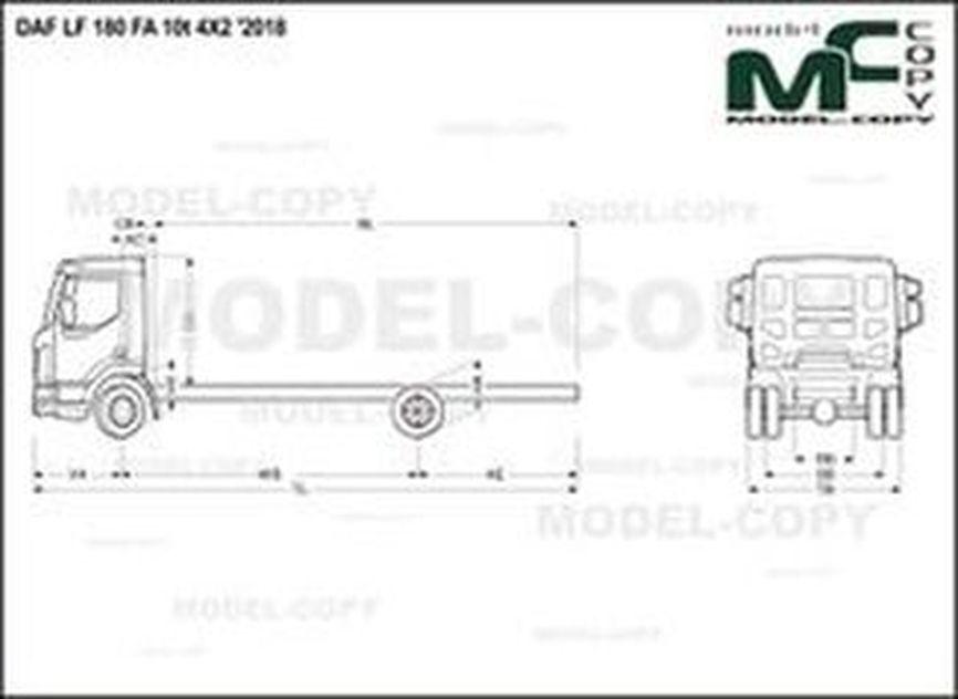 DAF LF 180 FA 10t 4X2 '2018 - drawing