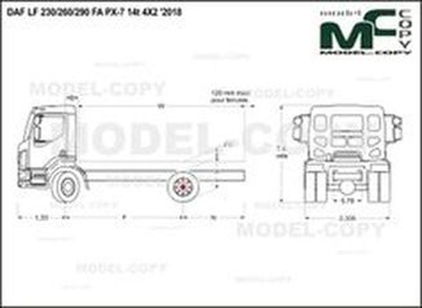 DAF LF 230/260/290 FA PX-7 14t 4X2 '2018 - drawing