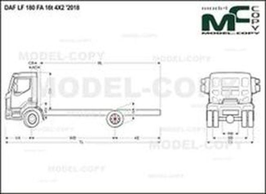 DAF LF 180 FA 16t 4X2 '2018 - drawing