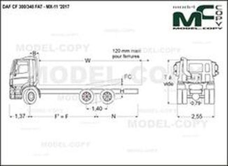 DAF CF 300/340 FAT - MX-11 '2017 - drawing