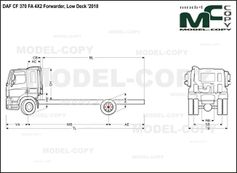 DAF CF 370 FA 4X2 Forwarder, Low Deck '2018 - drawing