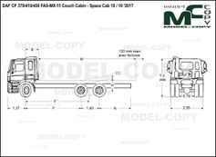 DAF CF 370/410/450 FAS-MX-11 Couch Cabin - Space Cab 10 / 10 '2017 - drawing