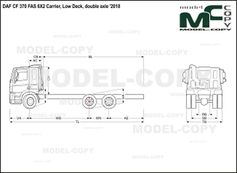 DAF CF 370 FAS 6X2 Carrier, Low Deck, double axle '2018 - drawing