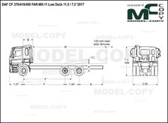 DAF CF 370/410/450 FAR-MX-11 Low Deck 11,5 / 7,5 '2017 - drawing