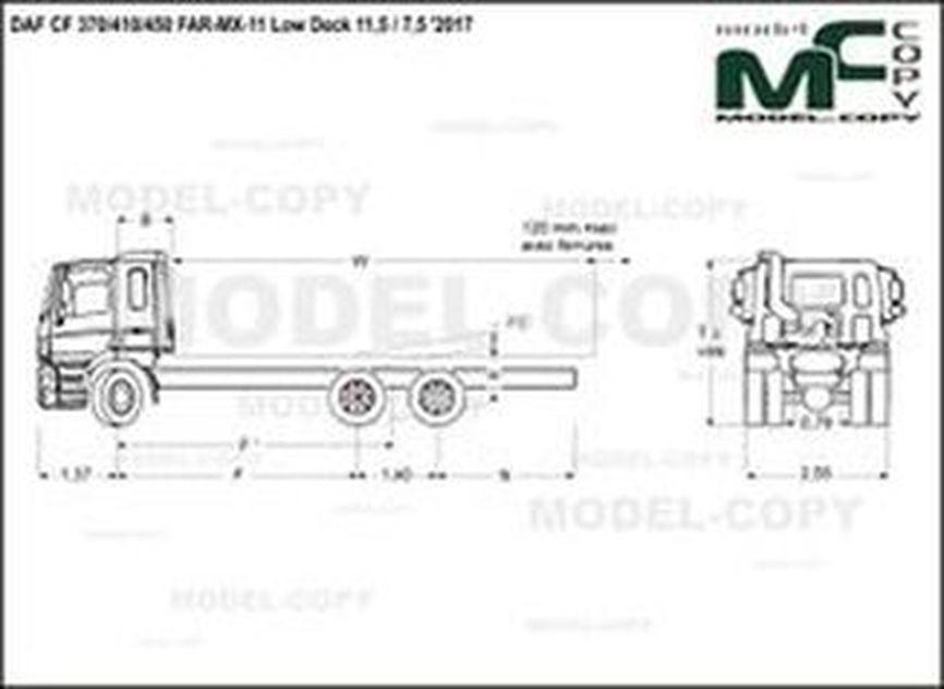 DAF CF 370/410/450 FAR-MX-11 Low Deck 11,5 / 7,5 '2017 - drawing