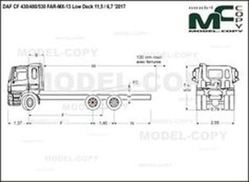 DAF CF 430/480/530 FAR-MX-13 Low Deck 11,5 / 6,7 '2017 - drawing