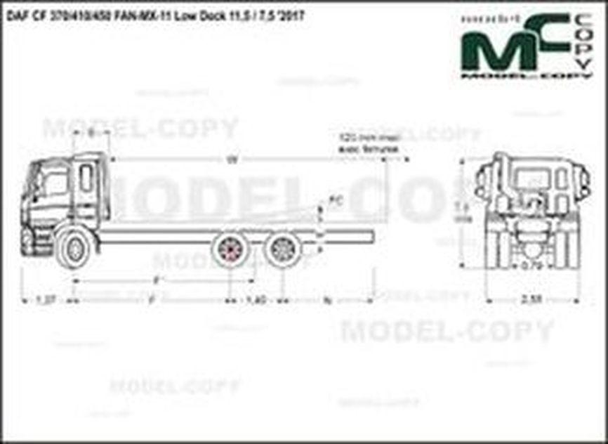 DAF CF 370/410/450 FAN-MX-11 Low Deck 11,5 / 7,5 '2017 - drawing