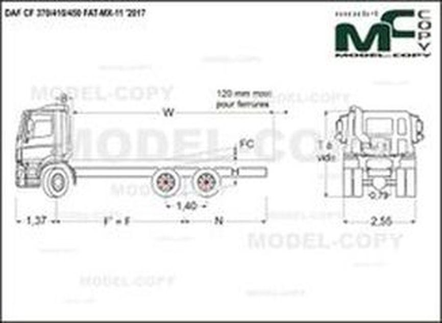 DAF CF 370/410/450 FAT-MX-11 '2017 - drawing
