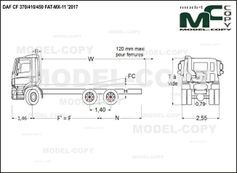 DAF CF 370/410/450 FAT-MX-11 '2017 - drawing