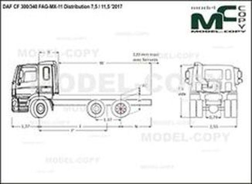 DAF CF 300/340 FAG-MX-11 Distribution 7,5 / 11,5 '2017 - drawing