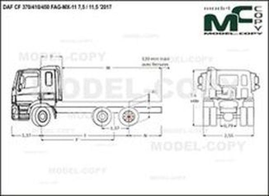 DAF CF 370/410/450 FAG-MX-11 7,5 / 11,5 '2017 - drawing