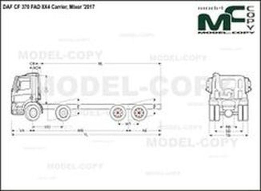 DAF CF 370 FAD 8X4 Carrier, Mixer '2017 - drawing