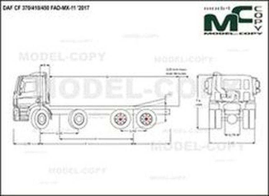 DAF CF 370/410/450 FAD-MX-11 '2017 - drawing