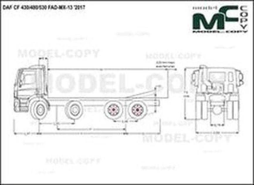 DAF CF 430/480/530 FAD-MX-13 '2017 - drawing