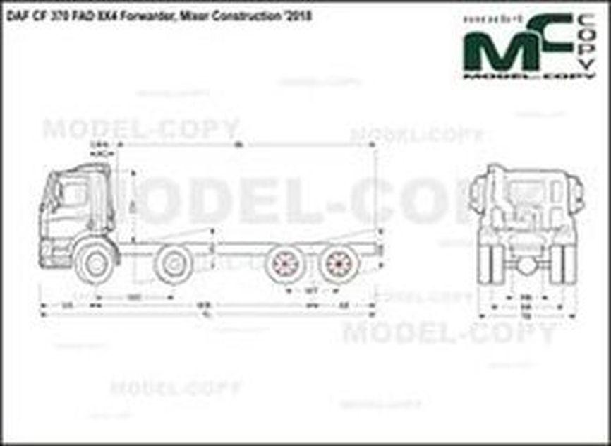 DAF CF 370 FAD 8X4 Forwarder, Mixer Construction '2018 - drawing
