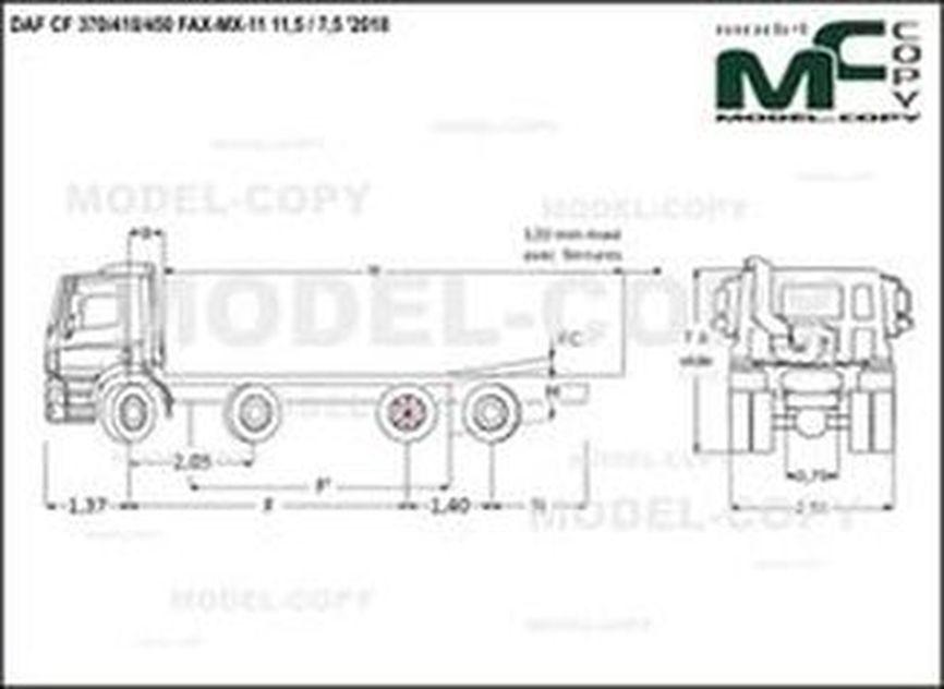 DAF CF 370/410/450 FAX-MX-11 11,5 / 7,5 '2018 - drawing