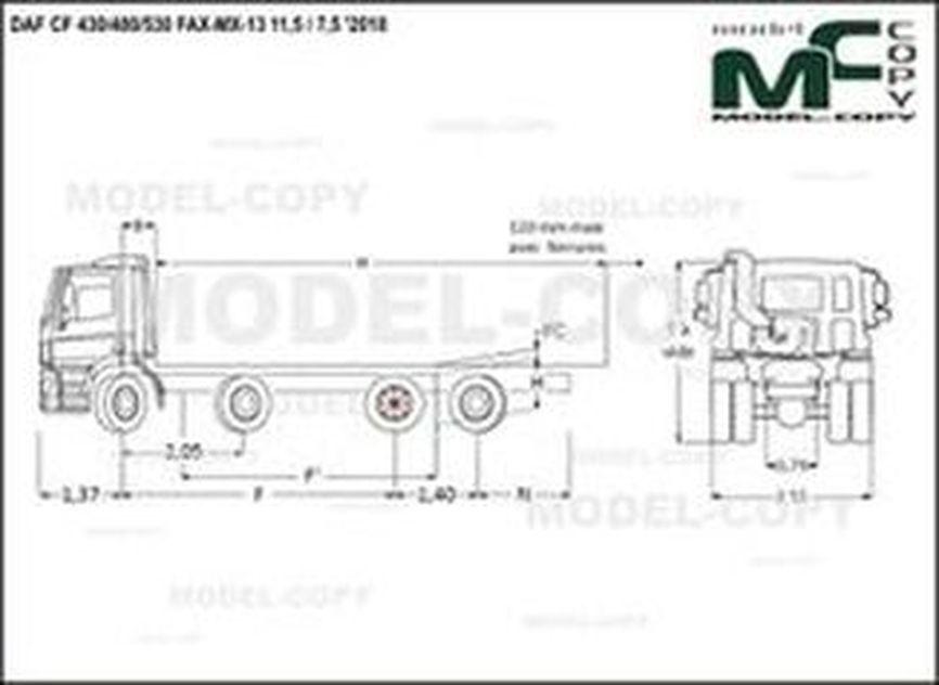 DAF CF 430/480/530 FAX-MX-13 11,5 / 7,5 '2018 - drawing