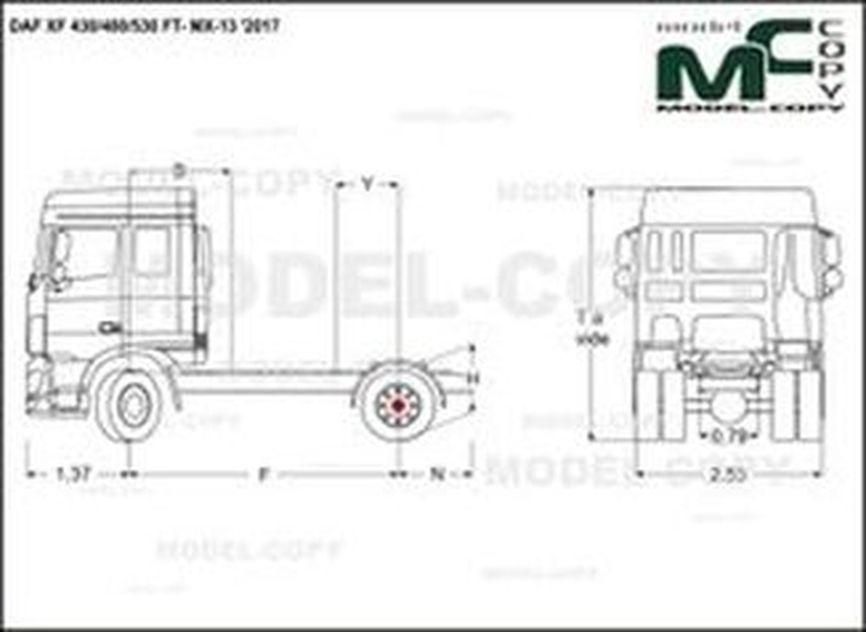 DAF XF 430/480/530 FT- MX-13 '2017 - drawing