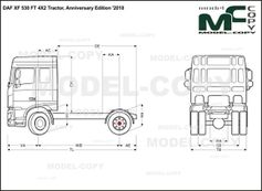 DAF XF 530 FT 4X2 Tractor, Anniversary Edition '2018 - drawing