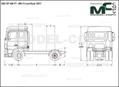 DAF XF 450 FT - MX-11 Low Deck '2017 - drawing
