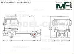 DAF XF 430/480/530 FT - MX-13 Low Deck '2017 - drawing
