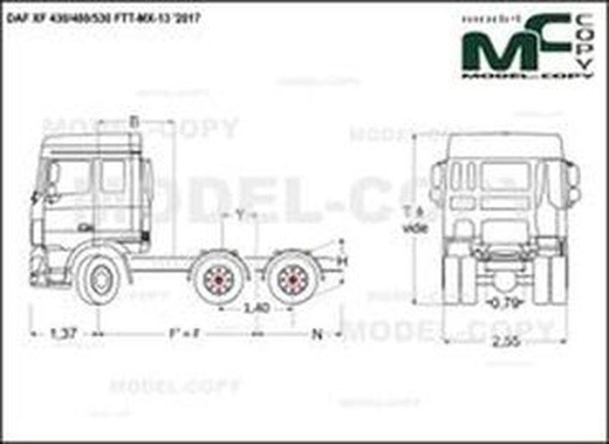 DAF XF 430/480/530 FTT-MX-13 '2017 - drawing