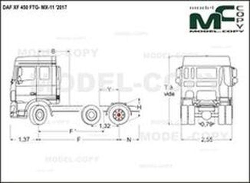 DAF XF 450 FTG- MX-11 '2017 - drawing