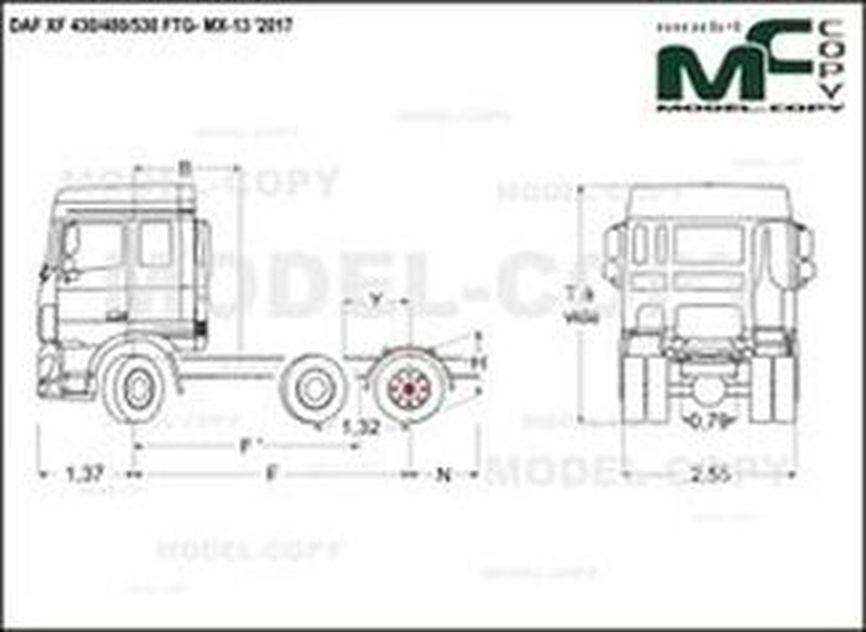 DAF XF 430/480/530 FTG- MX-13 '2017 - drawing