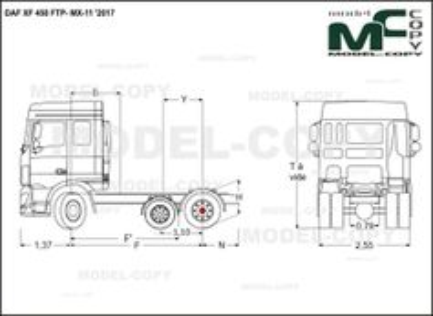 DAF XF 450 FTP- MX-11 '2017 - drawing
