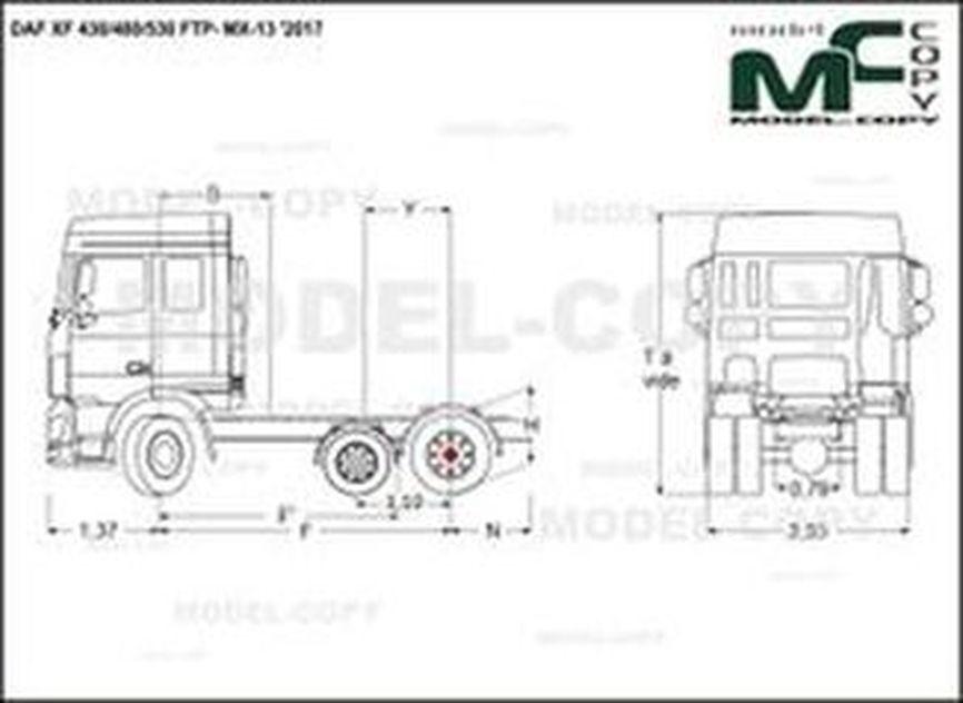 DAF XF 430/480/530 FTP- MX-13 '2017 - drawing