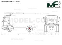 DAF LF 230 FT 4X2 Tractor, 13t '2017 - drawing