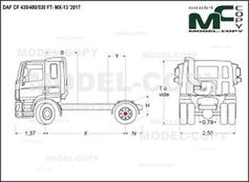 DAF CF 430/480/530 FT- MX-13 '2017 - drawing