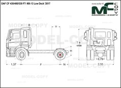 DAF CF 430/480/530 FT- MX-13 Low Deck '2017 - drawing