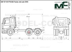 DAF CF 410 FTS 6X2 Tractor, twin axle '2018 - drawing