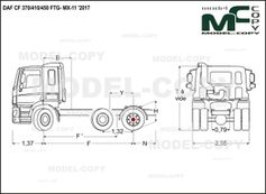 DAF CF 370/410/450 FTG- MX-11 '2017 - drawing