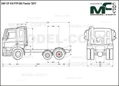 DAF CF 410 FTP 6X2 Tractor '2017 - drawing