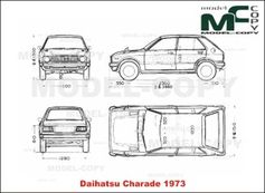 Daihatsu Charade (1973) - drawing