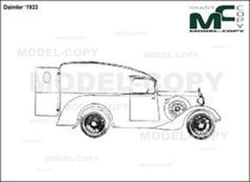 Daimler '1933 - drawing